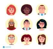 Collection d'avatars de personnes illustration stock