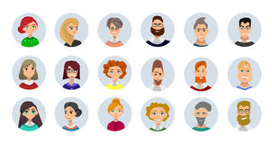Collection d'avatars de personnes Image libre de droits