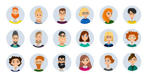 Collection d'avatars de personnes Photographie stock libre de droits