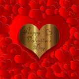 Collection d'or de coeur illustration libre de droits