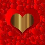 Collection d'or de coeur illustration de vecteur
