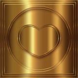 Collection d'or de coeur Photographie stock libre de droits