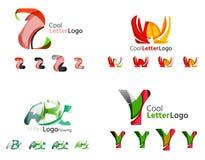 Collection d'emblème d'affaires de lettre Images stock
