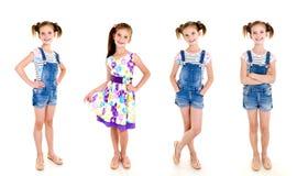 Collection d'enfant de sourire adorable de petite fille de photos dans le princ Image stock