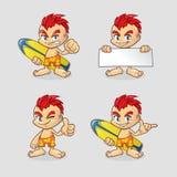 Collection d'enfant de surfer de bande dessinée Illustration Stock