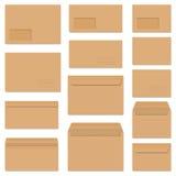 Collection d'enveloppes colorées Images libres de droits