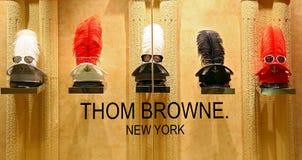 Collection d'eyewear de browne de Thom Photo libre de droits
