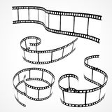 Collection of 3d film strips. Vector Royalty Free Stock Image
