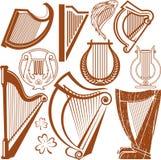 Collection d'harpe illustration de vecteur