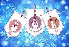 Collection d'hiver et de labels de Noël Image libre de droits