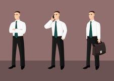 Collection d'hommes d'affaires debout dans le lien Illustration de Vecteur