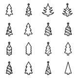 Collection d'icône d'arbre de Noël Photo libre de droits