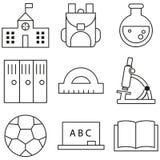 Collection d'icône d'ensemble - éducation d'école Photographie stock libre de droits