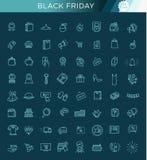 Collection d'icône d'ensemble - grande vente de Black Friday Image libre de droits