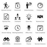 Collection d'icônes d'affaires - ensemble 1 Photographie stock libre de droits