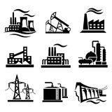 Collection d'icônes de différentes centrales Photographie stock libre de droits
