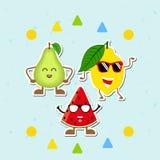 Collection d'icônes de fruits illustration de vecteur