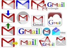 Collection d'icônes de Gmail illustration stock