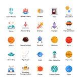 Collection d'icônes de l'espace et d'univers illustration stock