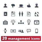 Collection d'icônes de Management, Business, Corporation illustration libre de droits