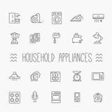 Collection d'icône d'ensemble - appareils électroménagers Photos stock