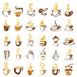 Collection d'icône de café Photographie stock
