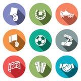 Collection d'icône de couleur du football illustration libre de droits