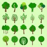 Collection d'icônes d'arbre de vecteur Photographie stock