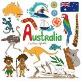 Collection d'icônes d'Australie illustration stock