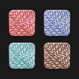 Collection d'icônes dans le montant de ficelle Photographie stock libre de droits