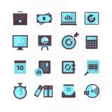 Collection d'icônes de finances Photo stock