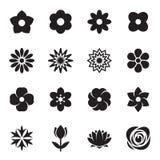 Collection d'icônes de fleur d'isolement sur un fond blanc Illustration de vecteur Illustration Stock