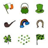 Collection d'icônes de jour de St Patrick s Photographie stock libre de droits