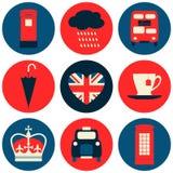 Collection d'icônes de Londres Photographie stock libre de droits