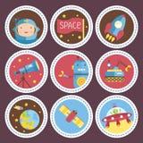 Collection d'icônes de vecteur de bande dessinée de l'espace illustration de vecteur