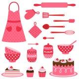 Collection d'icônes de vecteur sur le thème de cuisson Image stock