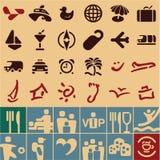 Collection d'icônes de voyage Photo stock