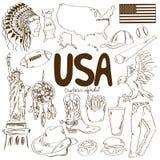 Collection d'icônes des Etats-Unis Photographie stock