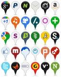 Collection d'icônes sociales colorées de media [2] illustration libre de droits