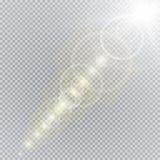 Collection d'illumination de scène, effets transparents Éclairage lumineux avec des projecteurs illustration stock
