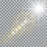 Collection d'illumination de scène, effets transparents Éclairage lumineux avec des projecteurs illustration libre de droits