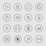Collection d'illustration d'icône de musique Images libres de droits