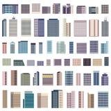 Collection d'illustration d'isolement de bâtiments de vecteur illustration libre de droits