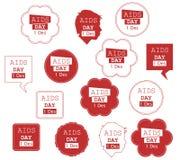 Collection d'illustration de Journée mondiale contre le SIDA Image libre de droits