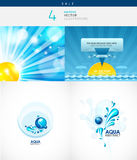 Collection d'illustrations de marine et d'aqua Image stock
