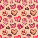 Collection d'illustrations de Saint-Valentin Images stock