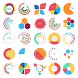 Collection d'Infographics d'éléments de conception Photographie stock