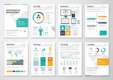 Collection d'éléments infographic de vecteur de brochure pour des affaires Photo stock
