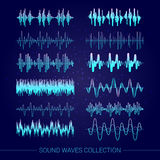 Collection d'ondes sonores illustration stock