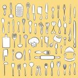 Collection d'ustensile de cuisine Illustration Stock